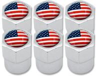 6 bouchons de valve EtatsUnis USA Amérique plastique