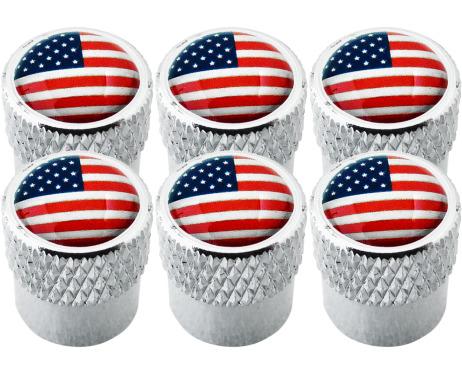6 bouchons de valve EtatsUnis USA Amérique strié