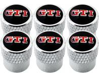 6 bouchons de valve VW GTI strié