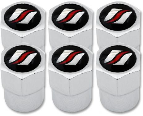6 Luxyline plastic valve caps