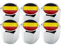 6 tapones de valvula bandera Belgica Belga hexa