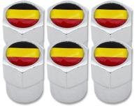 6 tapones de valvula bandera Belgica Belga plastico