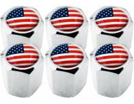 6 tapones de valvula USA Estados Unidos America hexa