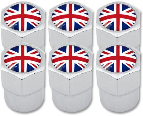 6 tappi per valvola Inghilterra Regno Unito Inglese Gran Bretagna plastica