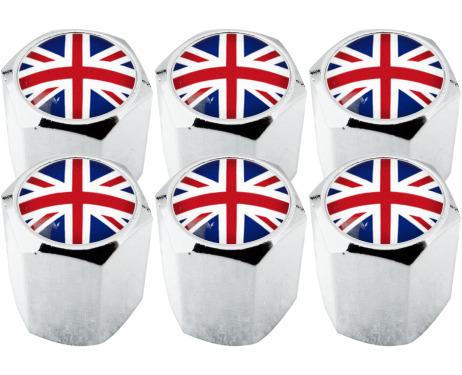 6 tappi per valvole Inghilterra Regno Unito Inglese Gran Bretagna hexa