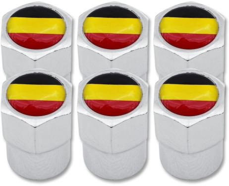 6 Ventilkappen Belgien Flagge Belgisch Plastik