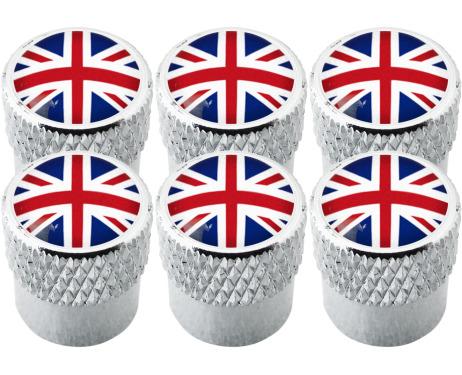 6 Ventilkappen England Vereinigtes Königreich Englisch British Union Jack gestreift
