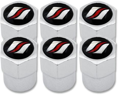 6 Ventilkappen Luxyline Plastik