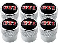 6 Ventilkappen VW GTI gestreift