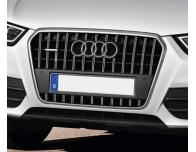 Radiator grill dual chrome trim Audi Q3