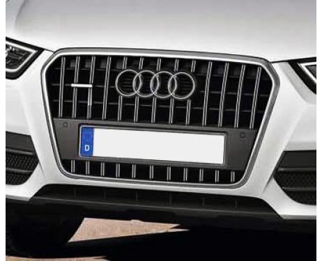 Radiator grill dual chrome trim Audi Q3