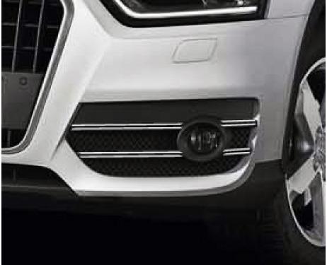 Fog lights dual chrome trim Audi Q3