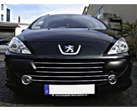 Baguette de calandre chromée Peugeot 307 0521 Peugeot 307 CC 0521 Peugeot 307 SW 0521