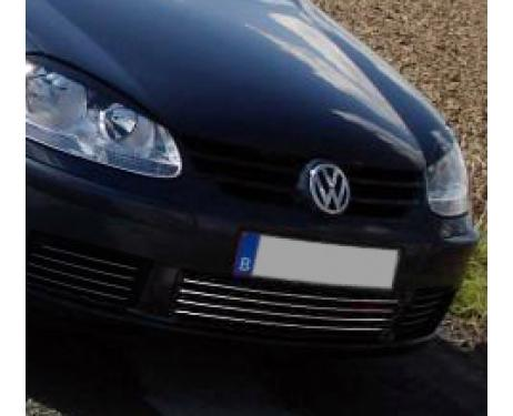 Lower radiator grill chrome trim VW Golf 5