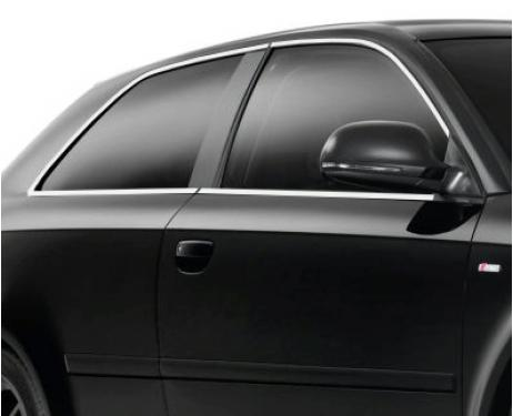 Baguette chromée de contour des vitres latérales Audi A3 Série 1 9600Série 1 Phase 2 0003Série 2