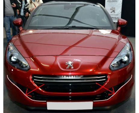 Lower radiator grill chrome trim Peugeot RCZ 1215 facelift