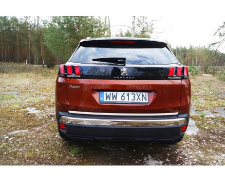 Trunk chrome trim Peugeot 3008 II 1619
