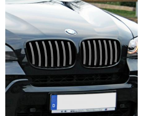 Radiator grill dual chrome trim BMW X5