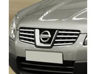 Baguette de calandre supérieure chromée Nissan Qashqai 2 08102 phase 2 10142 phase 30710ph