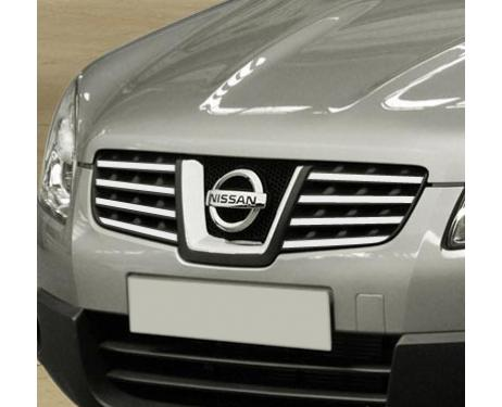 Upper radiator grill chrome trim Nissan Qashqai 2 08102 phase 2 10142 phase 30710