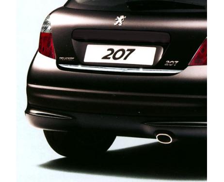 Trunk chrome trim Peugeot 207 0609 Peugeot 207 0919 Peugeot 207 CC 0609 207 CC 0919 207 SW 0919