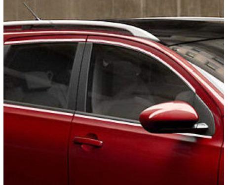 Baguette chromée de contour des vitres latérales Nissan Qashqai 2 08102 phase 2 10142 phase 3