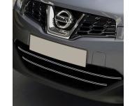 Radiator grill dual chrome trim Nissan Qashqai 2 08102 phase 2 10142 phase 30710