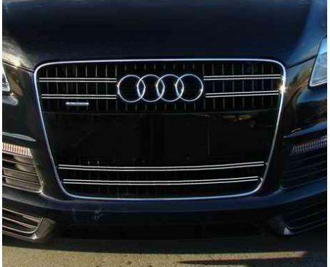 Radiator grill dual chrome trim Audi Q7