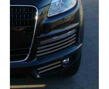 Fog lights dual chrome trim Audi Q7