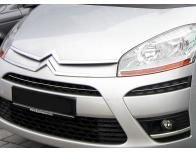 Upper radiator grill chrome trim Citroën C4 Picasso 0712
