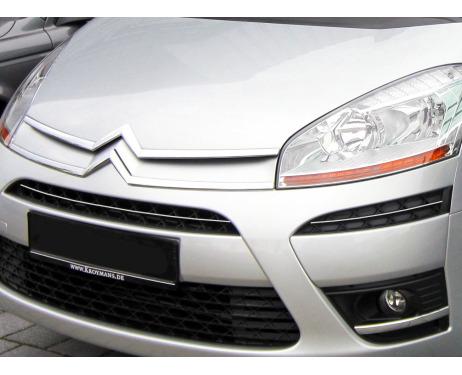 Upper radiator grill chrome trim Citroën C4 Picasso 0712