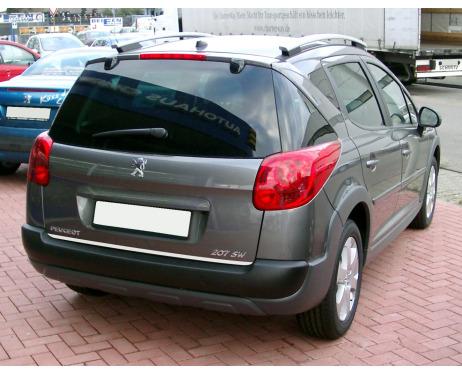 Baguette de coffre chromée Peugeot 206 SW Peugeot 207 SW 0609 Peugeot 306 SW Peugeot 307 SW 0105