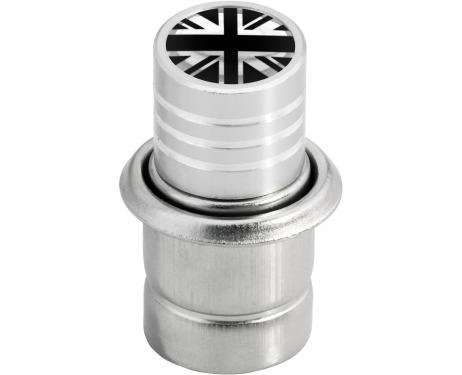 Allumecigare Angleterre RoyaumeUni Anglais Union Jack British England noir  chrome