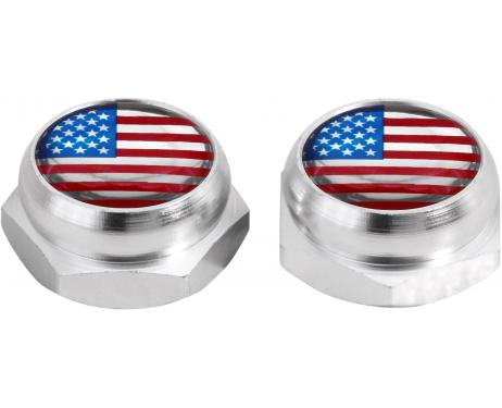 Cacherivets pour plaque dimmatriculation EtatsUnis USA Amérique noir