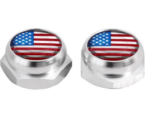 Cappucci per rivetti per targa di immatricolazione USA Stati Uniti dAmerica argenteo