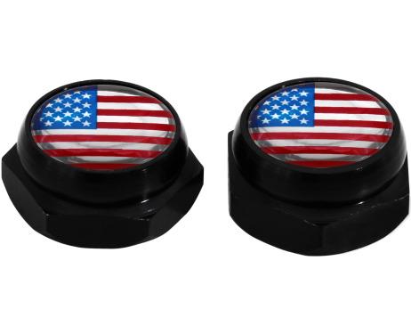 Cappucci per rivetti per targa di immatricolazione USA Stati Uniti dAmerica nero
