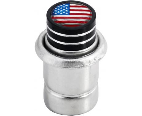 Cigarette lighter USA United States of America short black