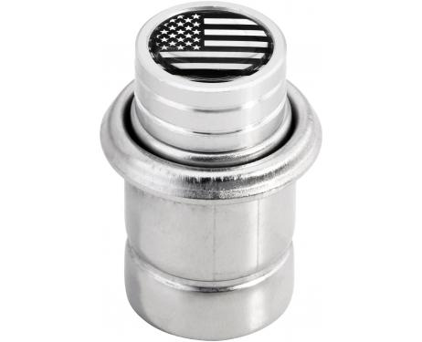Cigarette lighter USA United States of America short chrome