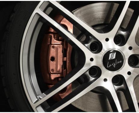 Painting kit for brake calipers metallic copper
