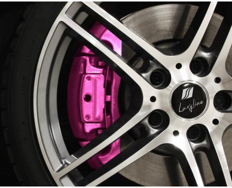 Painting kit for brake calipers metallic pink