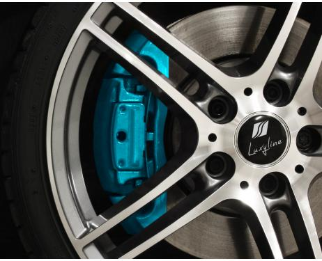 Painting kit for brake calipers turquoise