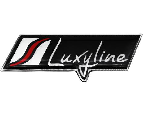 Plaquita Luxyline en aluminio logotipochapasigla