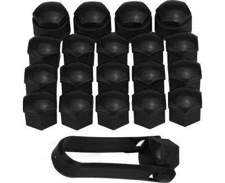 Tapatornillos de rueda antirrobo 17mm negro